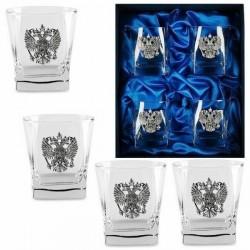 Подарочный набор стаканов для виски «ГЕРБОВЫЙ»