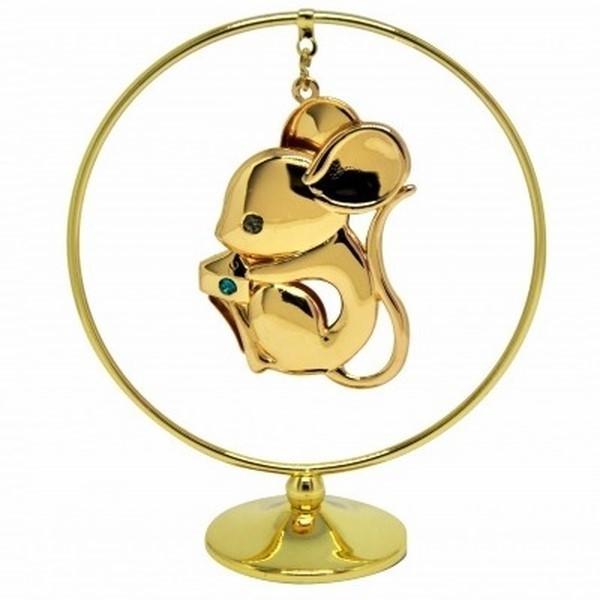 Фигурка с кристаллами сваровски мышонок символ года