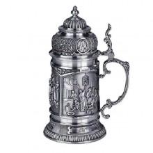 Оловянная пивная кружка Шедевры Мастеров