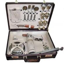 Набор для шашлыка подарочный в чемодане на 6 персон Летний