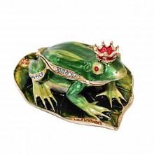 Шкатулка со стразами Царевна Лягушка в короне