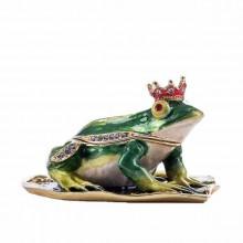 Шкатулка со стразами Царевна Лягушка на листике нимфеи