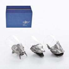 Подарок рыболову набор из трёх стопок перевертышей Богатый улов с подарочной коробкой