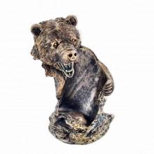 Подарок охотнику на день рождения Подставка под бутылку медведь