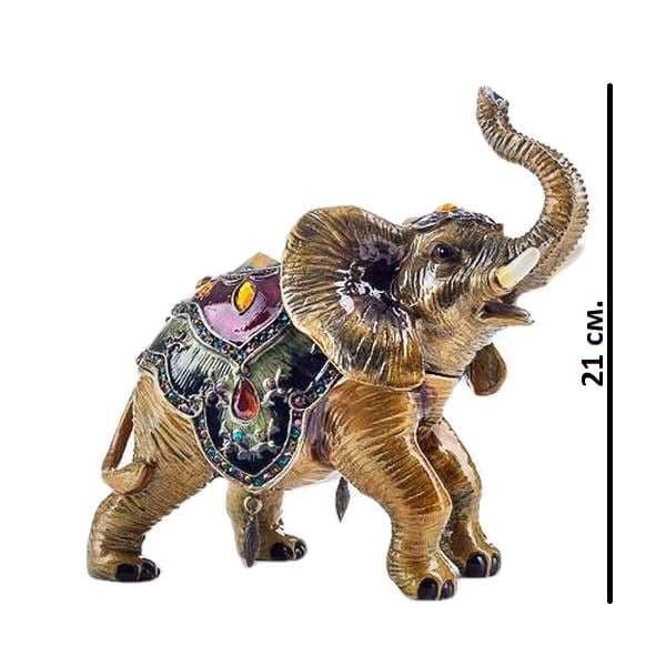 Большая шкатулка Индийский слон в попоне со стразами