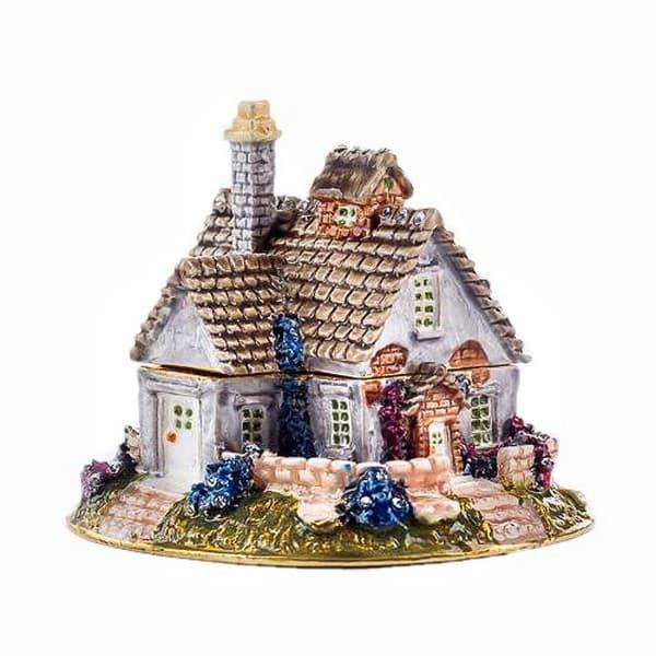 Подарочная шкатулка со стразами Сельский домик