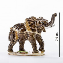 Шкатулка подарок со стразами Слон