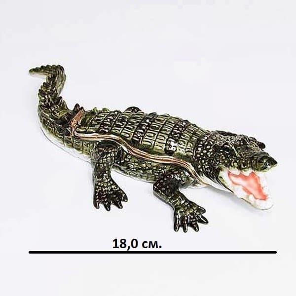 Шкатулка со стразами Крокодил