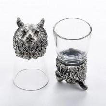 Рюмки с головами животных Тигр из олова