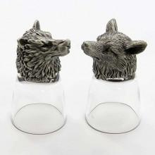 Подарок охотнику на 23 февраля стопки перевертыши Волк и Лиса