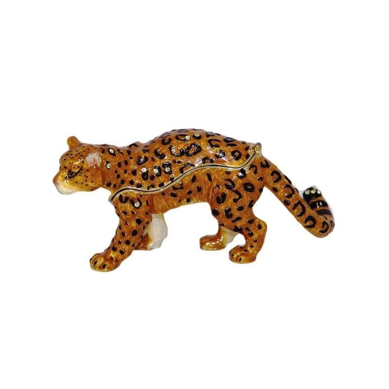 Шкатулка со стразами Леопард