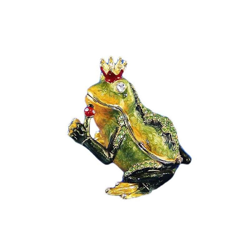 Шкатулка со стразами Царевна лягушка