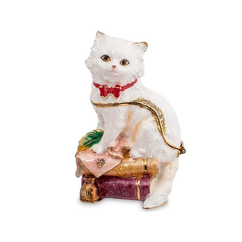 Шкатулка со стразами Персидский кот