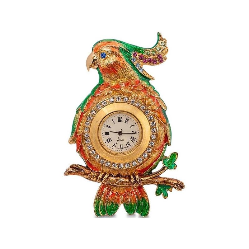 Часы со стразами Попугай